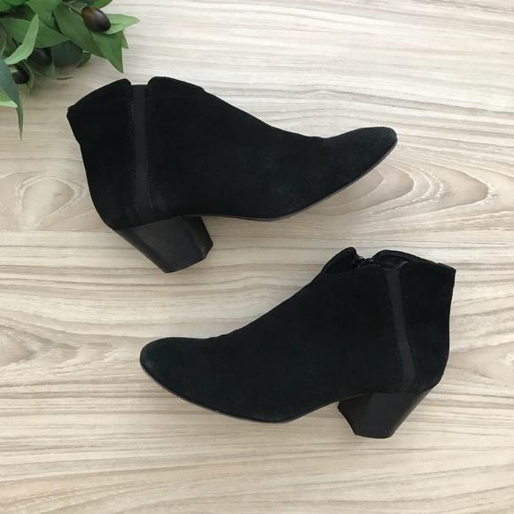 Aquatalia Black Suede Booties Sz